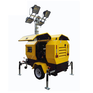 13 yesars factory offer : Mine use emergency mobile light tower with 4pcs 1000W metal halide light with Kubota diesel generator