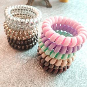 2020 bride tribe hello kitty wholesale elastic fashion natural telephone cord hair tie
