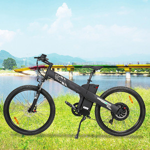 2020 own patent suspension fork 48v 1000w  electric mountain bicycle  vlo/lectrique femme electric bike with PAS system