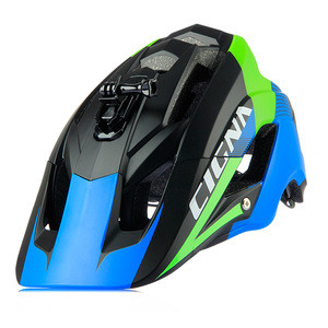 CIGNA/OEM helmet with big visor and camera or  led light  can install bicycle helmet for adults mountain bike sport