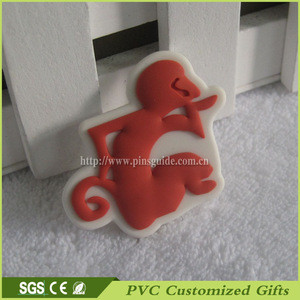 Custom 3d Soft PVC Rubber Eraser for Pencil or Fridge Magnet with Cute Monkey Animal Wholesale Promotional Gifts Made In China