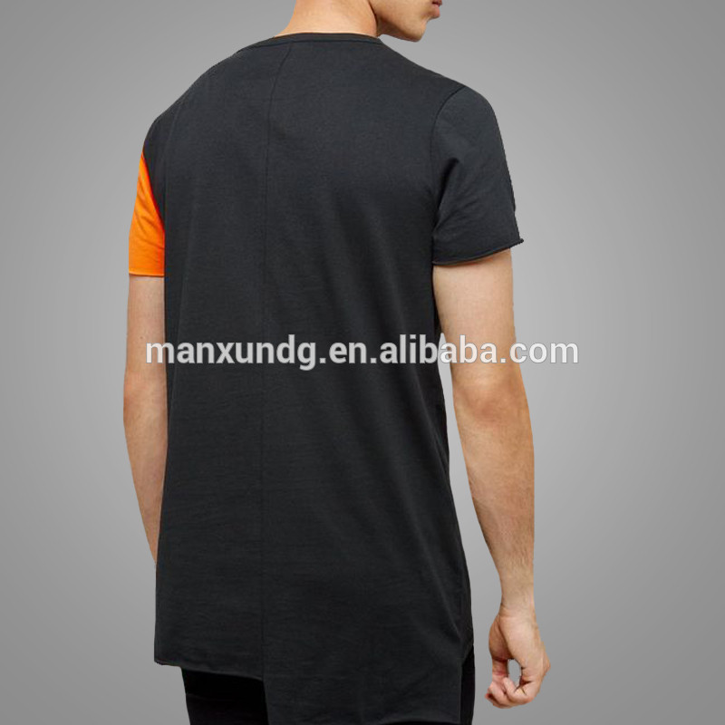 Custom design Men Short Sleeve Casual Sports T Shirts Tight Fit Two Color Cotton Tee