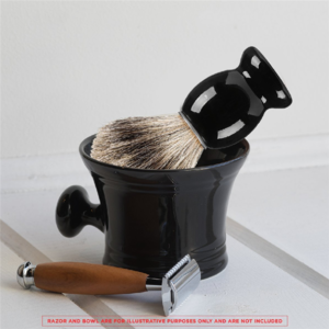 Custom shaving brushes pure badger hair black handle best shaving brush with private label free samples