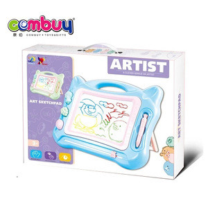 Educational play cartoon learning kids erasable magnetic drawing board