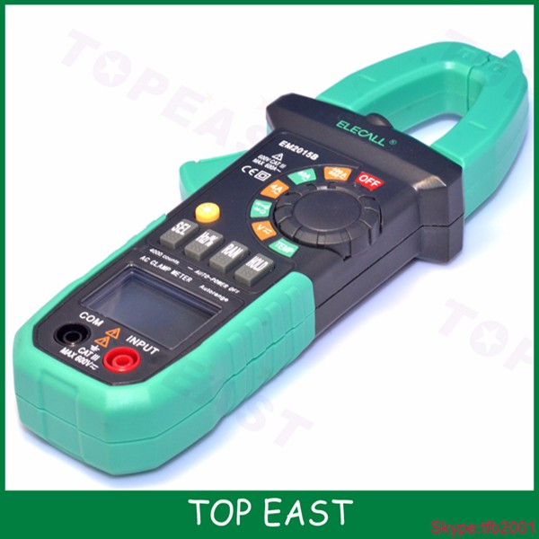EM2015A 26mm Jaw Capacity Easy To Separate The Wire NCV Digital Clamp Meter With Torch Diode Resistance Measurement Electrical
