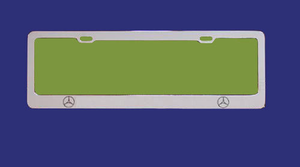 Europe standard car license plate frame