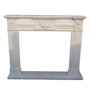 Factory direct White Marble fireplace