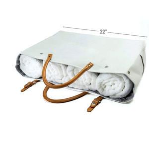 Fashion cute Canvas Beach Bag Travel Tote Bag with bottle holder