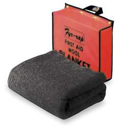 Fire Blanket and Pouch Wool/Nylon Blend
