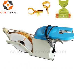 For satin, nylon, grosgrain, organza, etc Material belt gift Packaging elegant jar bow with wire twist tie machine