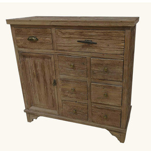 Good quality 8 drawers vintage wood living room cabinets