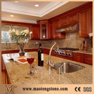 Granite Kitchen Table Top Restaurant Prefabricated Island Top
