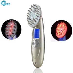 Hair Growth Treatment Scalp Massage RF Plastic Handle Laser Comb Hair Brush Device Machine