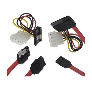 High quality 100 KLS brand red custom sata power cable