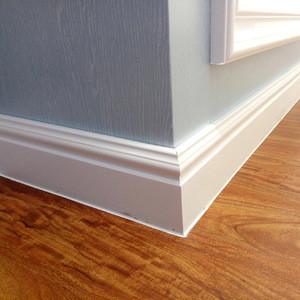 Hot China Supplier Interior Decoration Wall Panel PVC Integrated Skirting Board