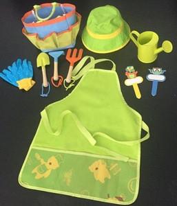 Kids Gardening Set with Tote Bag Hat Apron Glove Watering Can Children Garden Toys Beach Toys Bonsai Tools Amazon Bestseller