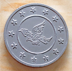 Manufacturer high quality custom token coin for coin operated games arcade coin acceptor