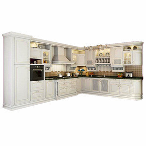 North American standard new mode classic style solid wood kitchen cabinet