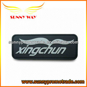Promotional new design soft pvc trademark for bags