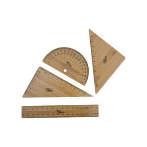 Stationery bamboo ruler wood ruler logo engraved natural material