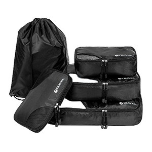 Travel Packing Luggage Organizer Cubes- 5 Piece Set- Black- Wholesale Pricing- Landed in USA- Ready to Ship