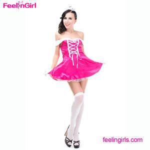 Wholesale pink sleeveless short dress custom elegance princess costume