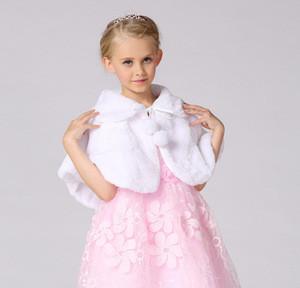 Winter Faux Fur Girls Wedding Dress Capelet Jackets Wrap
