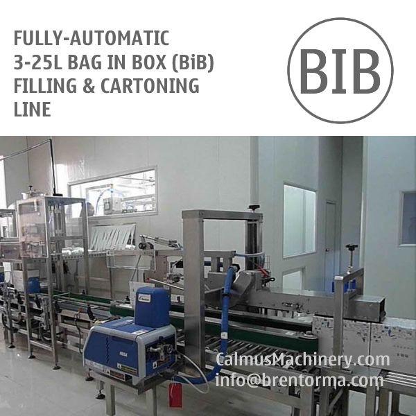 Fully-automatic 3-25L BiB Filling Machine Bag in Box Cartoning Line