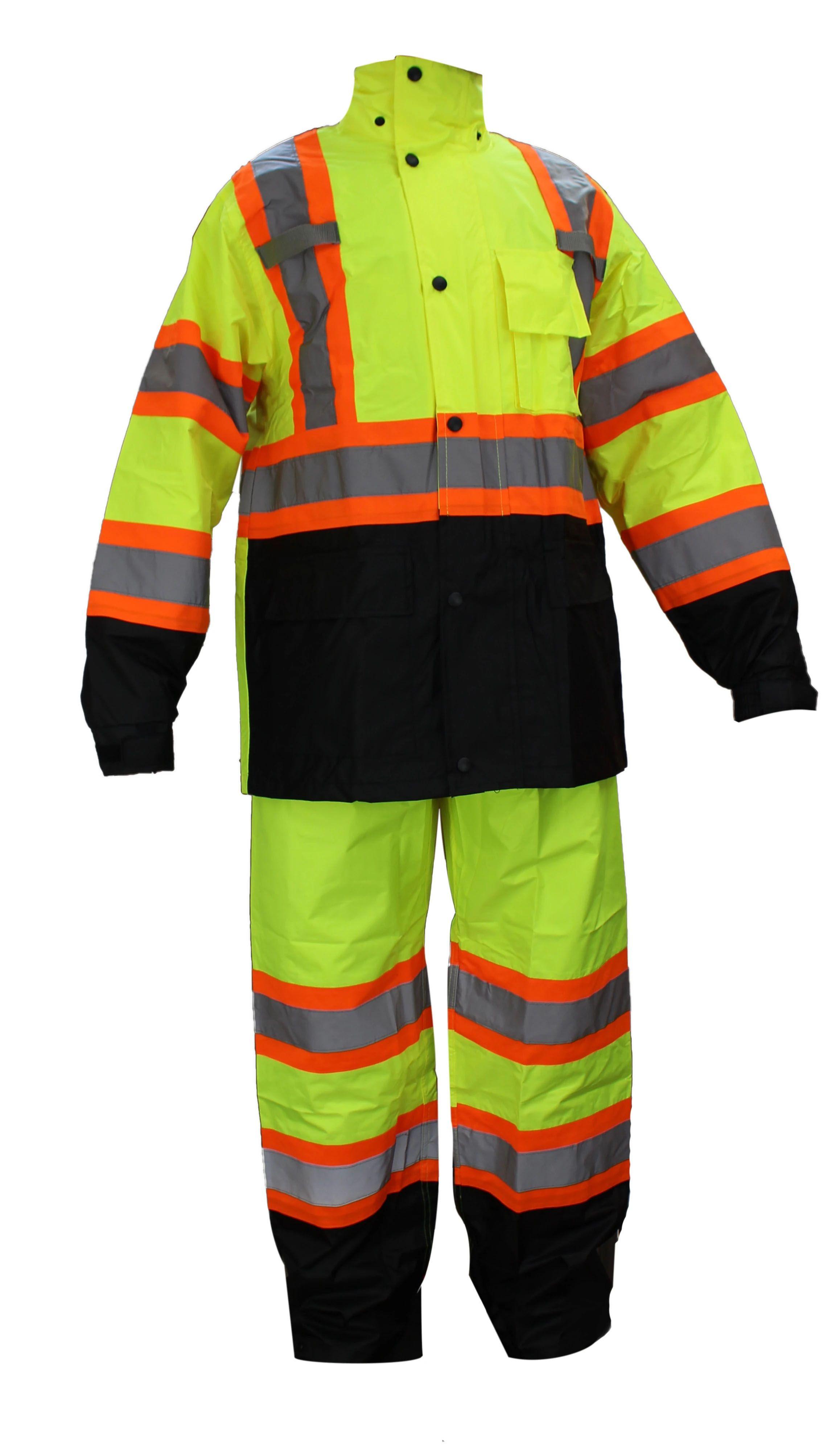 Rain Suit ,jacket, pant high visibility reflective