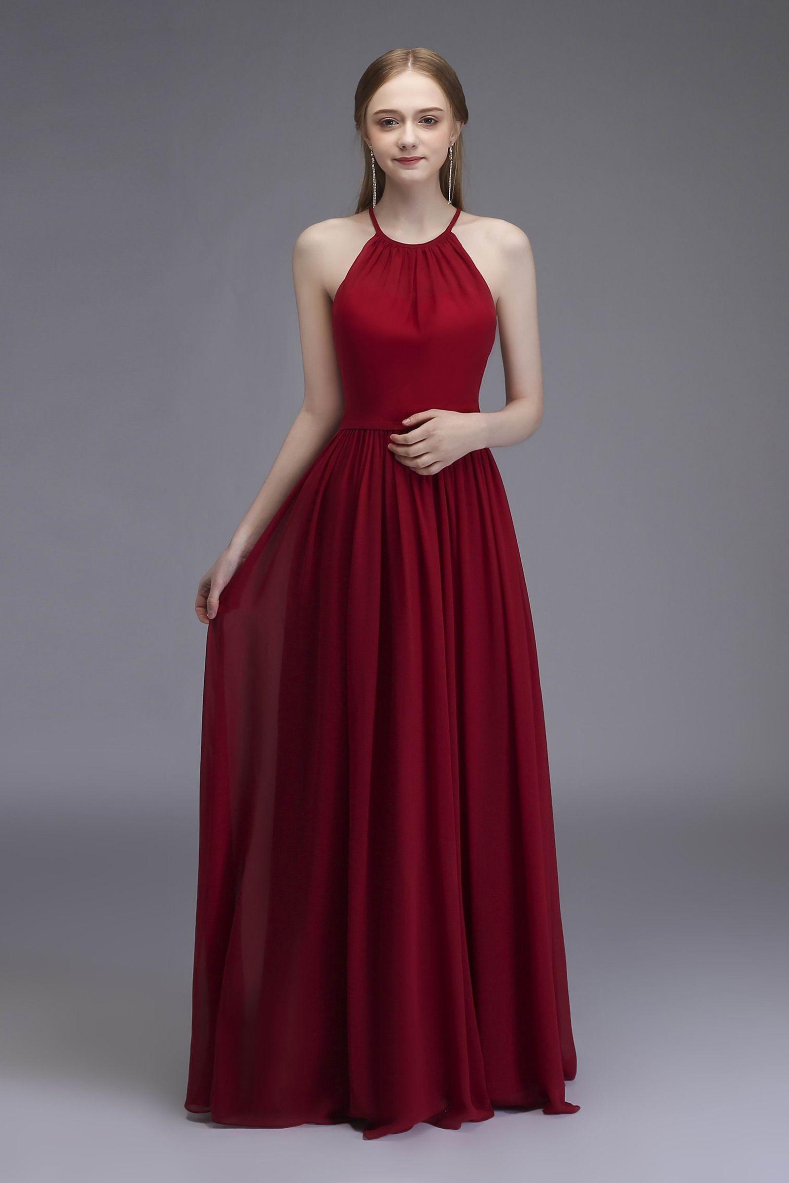 Maroon Sleeveless Party Dress