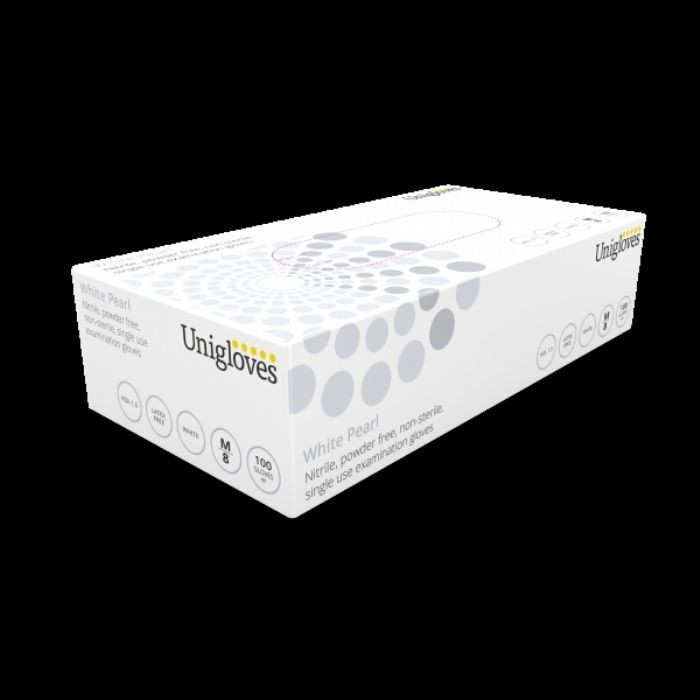 White Pearl Nitrile Medical and Food Glove