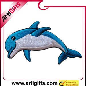 2011 hot cute dolphin embroidery craft