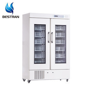 BT-4V658 CE ISO Hospital vertical glass door 4 degree medical cryogenic equipments