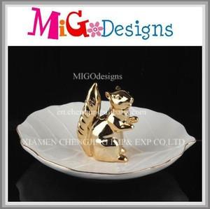 Ceramic Animal Design Wedding Ring Jewelry Holder Dish Trinket Tray Jewelry Ring Holder