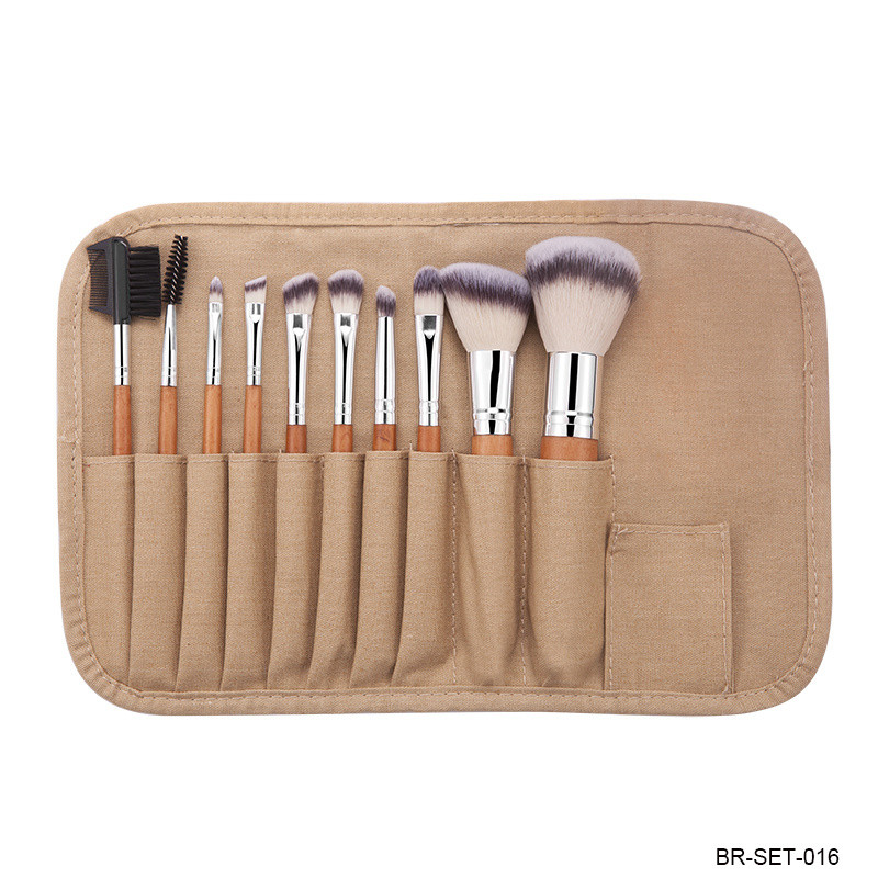 Cosmetic Brush Kit Face Brush Eyeshadow Brush Lip Brush Travel Brush with Portable Porch