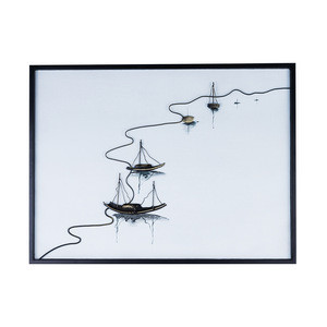 Country minimalist style 3D wrought iron woodblock prints.Return home with full load.Living room hotel room