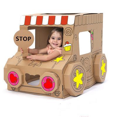 Custom Diy Corrugated Paper Vehicle Shaped Models Mini Car Plane Gifts Educational kids toys for children
