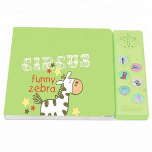 Custom high quality cartoon Picture Sound Book with Sound Module