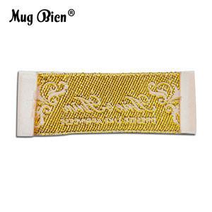 Custom Tags Sew on Garment White Satin Woven Label