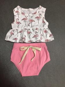 Cute cartoon printed children's shirts and shorts clothing sets