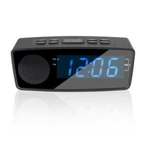 Dual Alarm with Snooze Function FM Radio Sleep Timer Large LED Display with Dimmer for Bedroom
