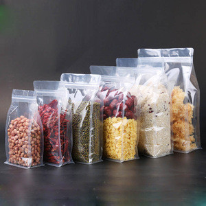Durable Waterproof Clear Flat Bottom Ziplock Melon Seed Food Packaging Plastic Pouches