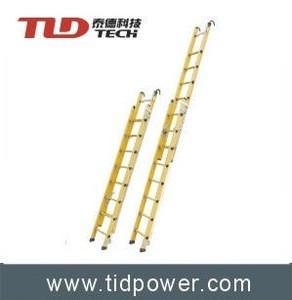 Fiberglass telescopic step ladder