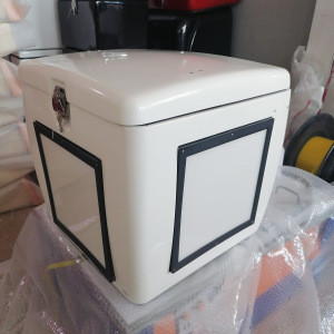 Fresh Food Fiberglass FRP Delivery Box with light for Scooter