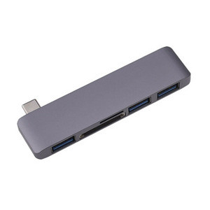 Hankpower USB C Hub 5 in 1 USB3.0 Power Supply+Card Reader SD TF Type C Adapter