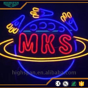 High Quality Wholesale Custom Cheap outdoor real glass neon sign programmable scrolling led light digital letter