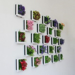 Home Decorative hanging flower frame 3D Artificial Plant Simulation Flower decoration Frame garden Wall Decor