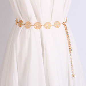 // Lady Metal Waist Decoration Chain // Belt Gold Buckle Belt Wholesale //