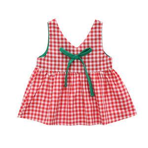 Lovely plaid one-piece 1-3-year old baby girl dress sleeveless romper baby girl skirt
