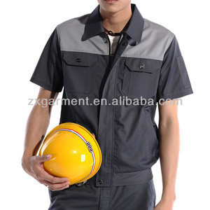 Mens Workwear Working Uniforms Shirts with Breathable and Quick Dry Eco-friendly for Factory or Construction